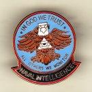 Naval Intelligence Eagle Hat Pin