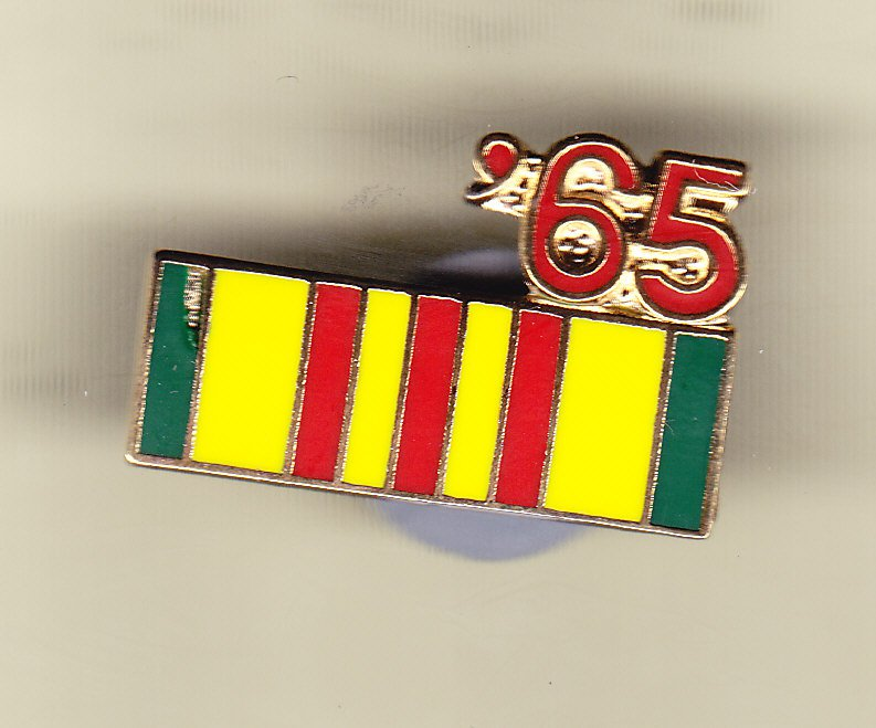 Vietnam Service Ribbon 1965 Hat Pin