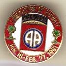 82nd Airborne Liberation of Kuwait Hat Pin
