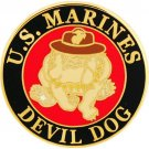 Marine Devil Dog Hat Pin