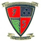 3rd Battalion 5th Marine Hat Pin