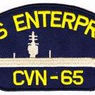 USS Enterprise CVN-65 HAT PATCH ONLY
