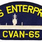 USS Enterprise CVAN-65 HAT PATCH ONLY