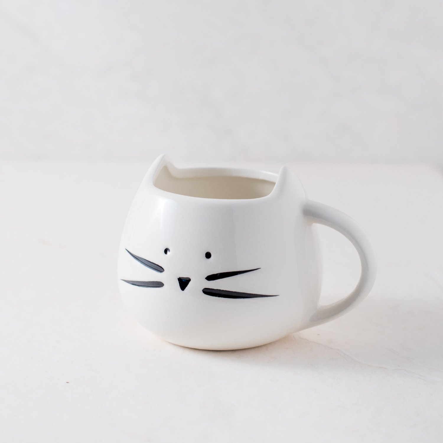 Ankit White Kitty Meow Ceramic Coffee Mug Funny Novelty Fun With Sayings Quote Gifts