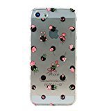 Ankit Rose Polka Dots iPhone 5/5s/SE Clear Transparent Case, Super Cute Girls Protective