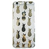 Ankit Gold Pineapple iPhone 6 Plus Case, Super Cute Protective Beautiful Design Case with Anti