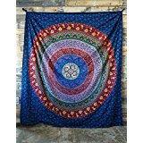 Ankit Tapestries (Floral Mandala Multicolor) Beach Wall Tapestry Mandala Kits Hippie India