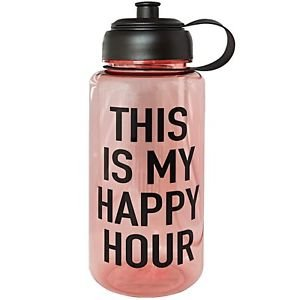 Ankit This Is My Happy Hour Sports Water Bottle Gym and Tonic BPA Free (35 oz)
