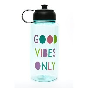 Ankit Good Vibes Only Sports Water Bottle Gym and Tonic BPA Free (35 oz)