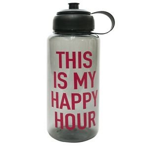 Ankit This Is My Happy Hour Sports Water Bottle with Gym, tonic BPA free (35 oz)