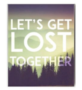 Ankit Let's Get Lost Together Canvas Wall Art Wall Decor For Living Room Wall