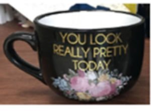Ankit U Look Pretty Round Mug, Funny Novelty Fun With Sayings Quote Gifts 18oz