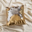 16x16 Mermaid Pillow with Insert Gold/Silver with Flip sequin Throw Pillow