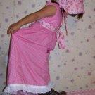 Prairie Dress Size 8 With Bonnet