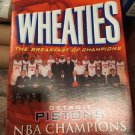 Detroit Pistons Championship WHEATIES Box UNOPENED 2003-2004