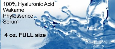 "4 oz. 100% HYALURONIC ACID Serum PHYTESSENCE wakame ""Reverse signs of aging BULK"
