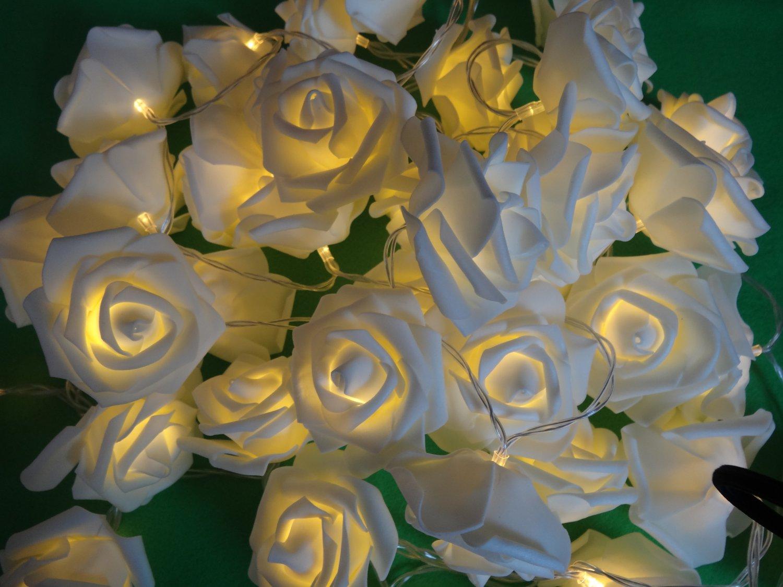 Christmas led rose light romantic beautiful decorative seasonal holiday Lights