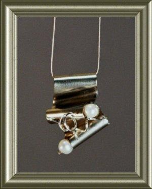 mini german silver waterfall pendant