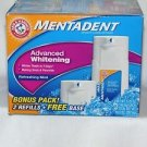 Mentadent Advanced Whitening Refreshing Mint Toothpaste, 10.5 oz Arm & Hammer