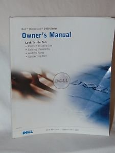 Dell Dimension 2400 Series Owner's Manual Owner User Guide Instructions MTC2