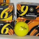 BRIDGESTONE e6 Optic Yellow 3-Piece Straight Distance Golf Balls | 1 Dozen