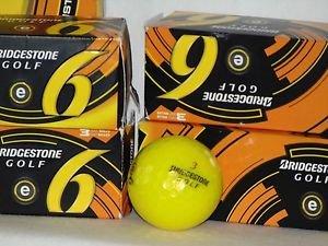 BRIDGESTONE e6 Optic Yellow 3-Piece Straight Distance Golf Balls | 1 Dozen