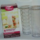 Better Homes 2pc Beverage Clear Flavor H2O Juice Soda Alcohol Dispenser Infuser