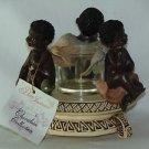 Vintage Porcelain Cherub Angel Candle Votive/Tealight Holder Decorative