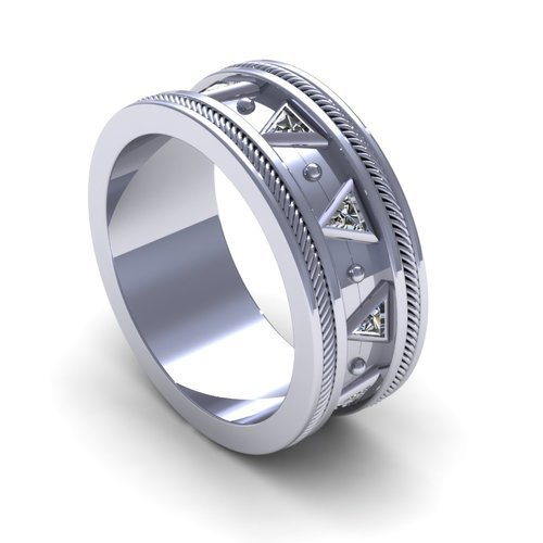 Incredible Tech Design Wedding Band