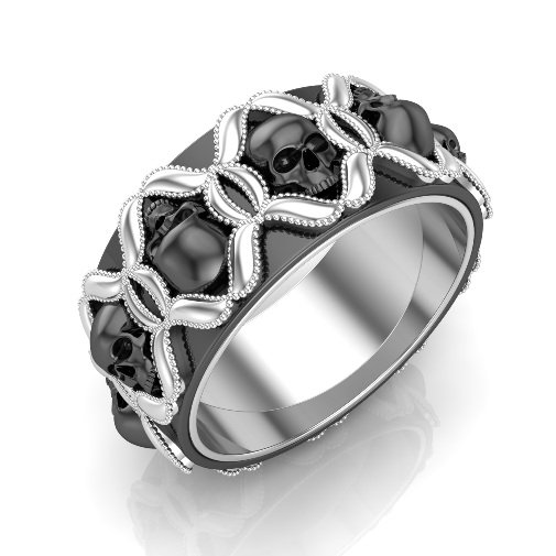 Skull Wedding Band