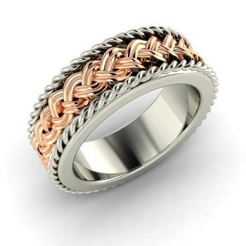 Twisted Wedding Band in 10 k Gold