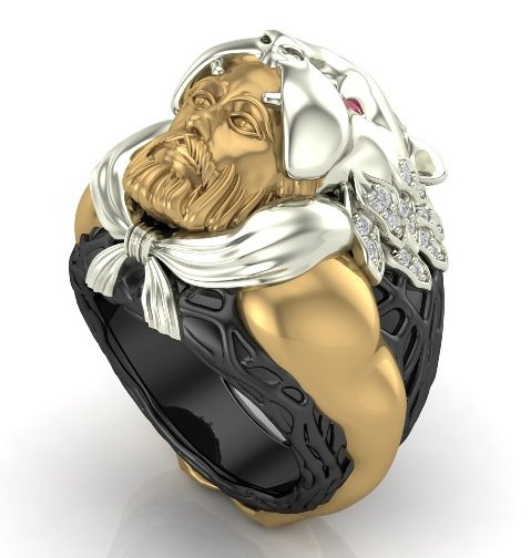 Hercules Ring in 14 k