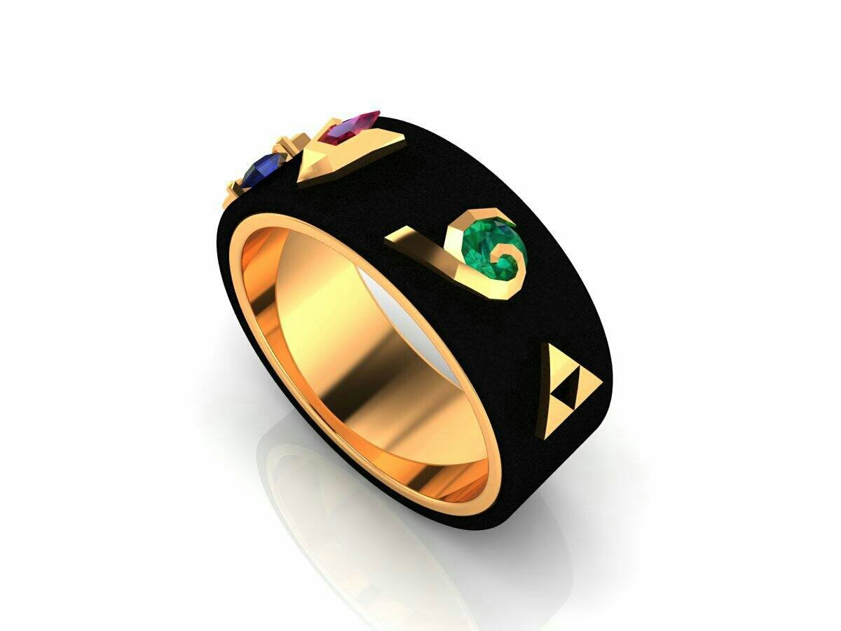Legend of Zelda Engagement Ring 10k