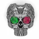 Men's Skull Ring Solid Silver