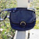 COACH Navy Blue Leather Shoulder Bag Purse Tote Vintage #F7D 4164