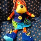 Plush Doggie Manhattan Toy Teach Zip Tie Snap Button Buckle preschool FREE SHIP