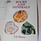 Dover Rocks Minerals T. D. Burns Nature Science Unused Coloring Book Homeschool