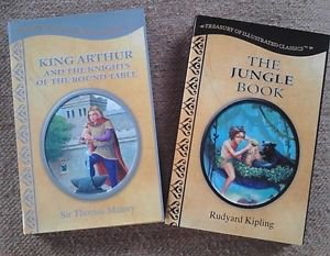 King Arthur and Jungle Book Hardcover Treasury of Illustrated Classics LOT 2
