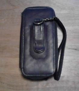 Leather Wallet Phone Case Full Grain Cow Hide Boulder Ridge Removable Strap EUC