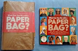 What Can You Do with a Paper Bag? Book Bags LOT Crafting DIY Make Hats Wigs