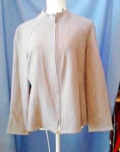 Lafayette 148 NY Sz 14 Dusty Pink  Blazer Jacket 100% Wool Career Casual Vintage