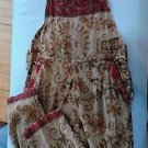 Radhe Syam Boutique Embroidery Overalls Jumper BOHO Festive Gold Red Trim Artsy