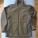 Columbia Fleece Jacket 10 12 Medium Kids Olive Green with Gray Long Sleeve