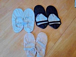 Capezio Sansha Ballet Slippers LOT 3 pairs Black White Pink Dance Gymnastics