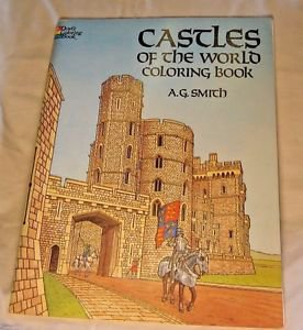 Dover Coloring Book Castles of the World History Adults Children Vintage UNUSED