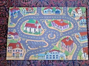 """Roadway City Fun Floor Puzzle Play Mat 30 pcs for cars and trucks 27"""" x 40"""""""