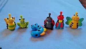 LOT 6 JUST B. YOU SNUG BUGS COLORFUL Pop Bead Connecting TOYS 10 MTHS-3 YRS
