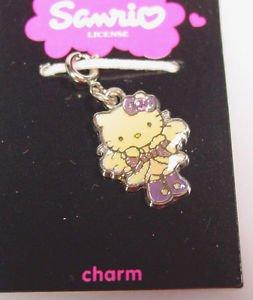 Sanrio Hello Kitty angel rhinestone pendant charm zipper pull 2005