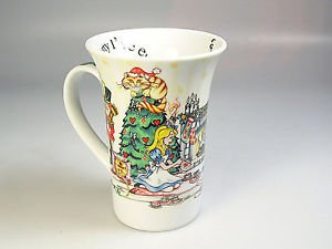 Alice in Wonderland Mug Christmas party Tea Coffee Cup Paul Cardew