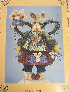 Pattern primitive Angel Heaven Folk Art Bunny Rabbit Cloth Fabric sew HS35